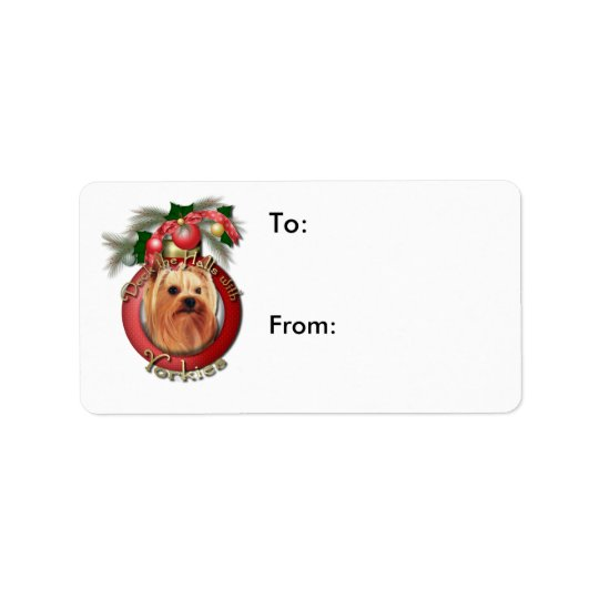 Christmas - Deck the Halls - Yorkies Label
