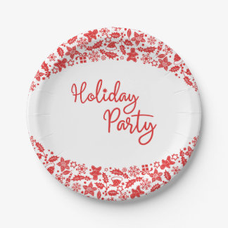 Christmas Decor Arch Holiday Party Paper Plate 7 Inch Paper Plate