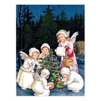 Christmas Decorating Postcard
