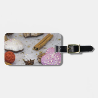 Christmas decoration and food luggage tag