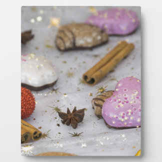 Christmas decoration and food plaque