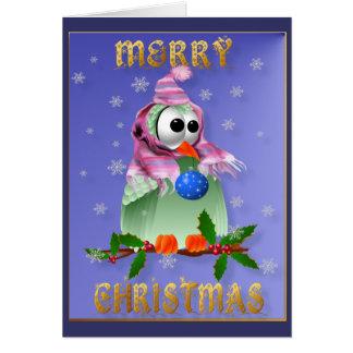 Christmas Decoration Bird Card
