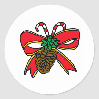 Christmas Decoration Classic Round Sticker