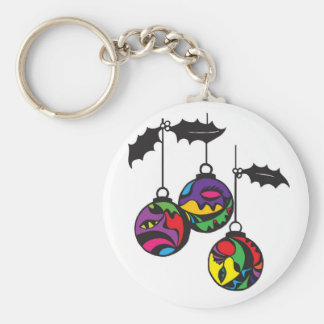 Christmas decoration - Globes Basic Round Button Keychain