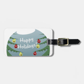 Christmas decoration luggage tag