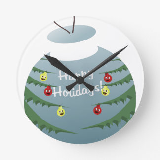 Christmas decoration round clock