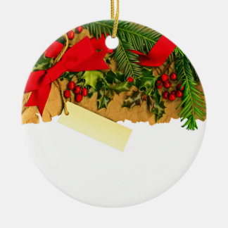 Christmas Decoration With A Blank Tag