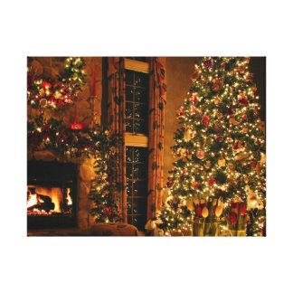 Christmas decorations - christmas tree canvas print