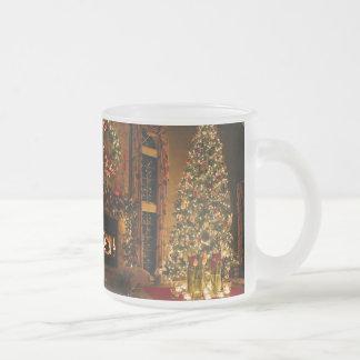 Christmas decorations - christmas tree frosted glass coffee mug