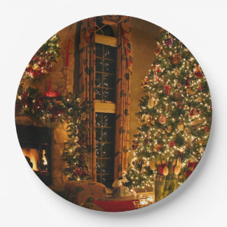 Christmas decorations - christmas tree paper plate
