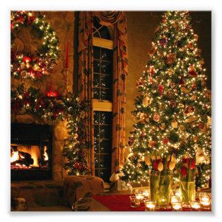 Christmas decorations - christmas tree photo print