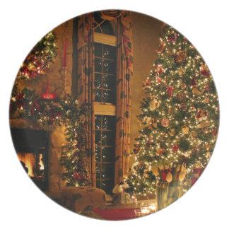 Christmas decorations - christmas tree plate