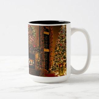 Christmas decorations - christmas tree Two-Tone coffee mug
