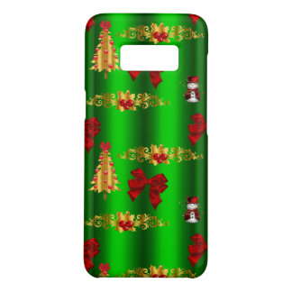 Christmas Decorations on Green Case-Mate Samsung Galaxy S8 Case