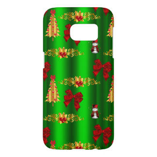 Christmas Decorations on Green Samsung Galaxy S7 Case