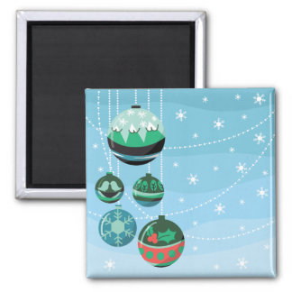 Christmas Decorations Square Magnet