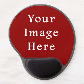 Christmas Deep Burgundy Red Color Background Blank Gel Mouse Pad