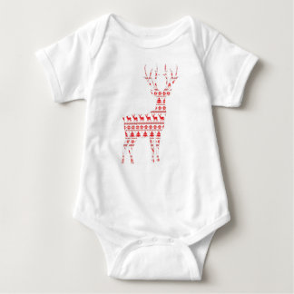 Christmas Deer2 Baby Bodysuit