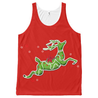 CHRISTMAS DEER ALONE All-Over Printed Unisex Tank