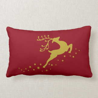 Christmas deer lumbar pillow