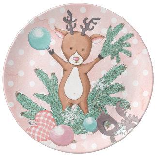 Christmas Deer Plate
