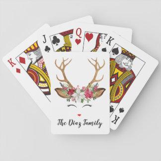 Christmas Deer Playing Cards