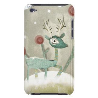 Christmas Deer Snowing iPod Case-Mate Case