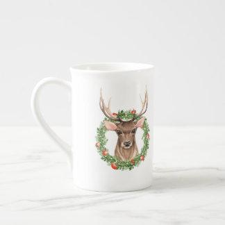 Christmas Deer Tea Cup