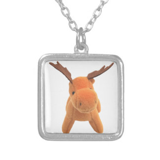 Christmas Deer transparent PNG Silver Plated Necklace