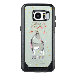 Christmas Deer With Ornaments OtterBox Samsung Galaxy S7 Edge Case