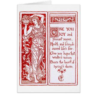 Christmas Design by Walter Crane Card