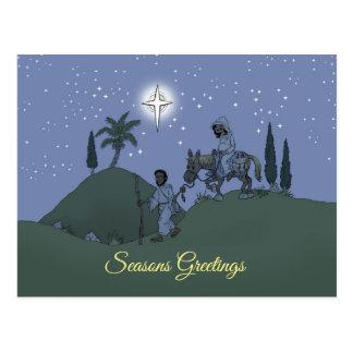 Christmas design on a postcard. postcard
