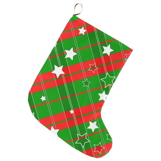 Christmas design pattern large christmas stocking