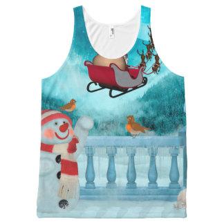 Christmas design, Santa Claus All-Over-Print Tank Top