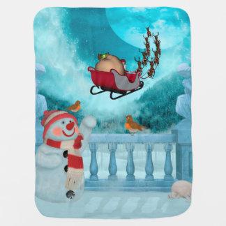 Christmas design, Santa Claus Baby Blanket