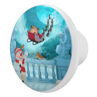 Christmas design, Santa Claus Ceramic Knob