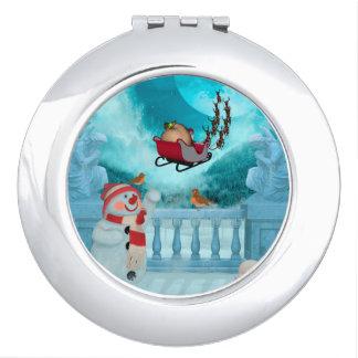 Christmas design, Santa Claus Compact Mirrors