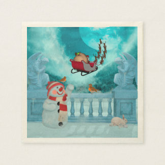Christmas design, Santa Claus Disposable Napkin