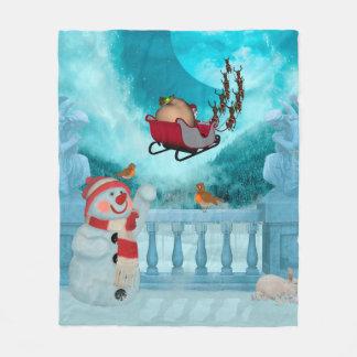 Christmas design, Santa Claus Fleece Blanket
