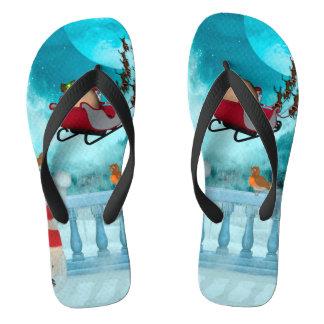 Christmas design, Santa Claus Flip Flops