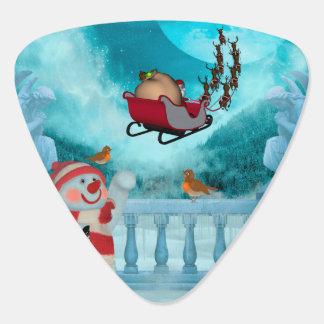Christmas design, Santa Claus Guitar Pick