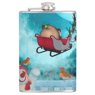 Christmas design, Santa Claus Hip Flask