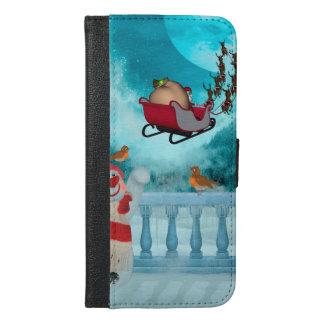 Christmas design, Santa Claus iPhone 6/6s Plus Wallet Case