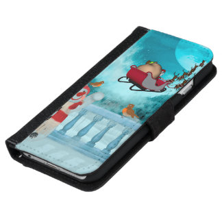 Christmas design, Santa Claus iPhone 6 Wallet Case