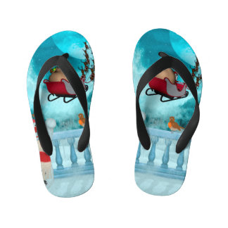 Christmas design, Santa Claus Kid's Flip Flops