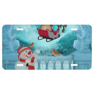 Christmas design, Santa Claus License Plate