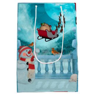 Christmas design, Santa Claus Medium Gift Bag