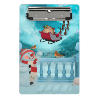 Christmas design, Santa Claus Mini Clipboard