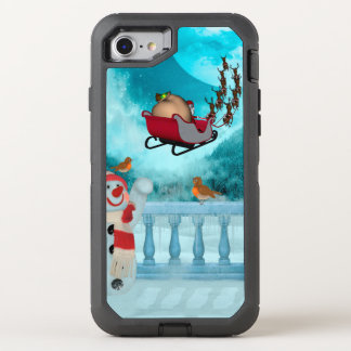 Christmas design, Santa Claus OtterBox Defender iPhone 8/7 Case