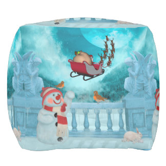 Christmas design, Santa Claus Pouf